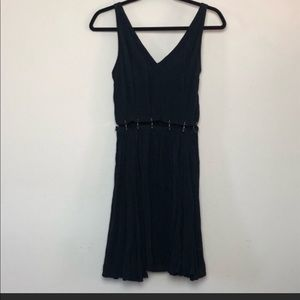 Black Topshop fit and flare dress